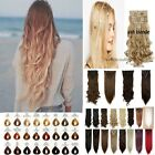 Clip In Hair Extensions Long Curly Wavy Straight Full Head Hair Extentions 25U