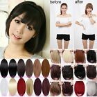 Cute Straight Clip In On Bangs/Fringe Hair Extensions Blonde Brown Red New 8i9