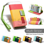 STAND WALLET LEATHER CASE COVER FOR APPLE IPHONE SE 5/5S SCREEN PROTECTOR