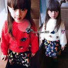 Winter Baby Child Kids Girl Princess 3D Butterfly Hooded Coat+Dress Sets 2-7Y