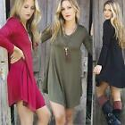 New Sexy Women Casual Long Sleeve Evening Party Cocktail Mini Dress Loose