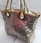 Fashion Women PU Leather Handbag Shoulder Messenger Bag Gold Silver Amazing !