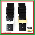 15mm BLACK  Leather Watch Strap, Genuine Calf, VERY POPULAR. Soft Lining L2