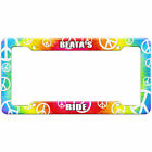 Tie-Dye Hippie License Plate Frame Ride Names Female Ba-Be