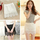Women Sexy Slim Party Lace Mini Short Pencil Hip Package Skirt With Safety Pants