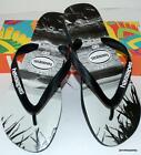 HAVAIANAS NEW MENS THONGS FLIP FLOPS PHOTO PRINT BURLEIGH  Black White Surf Logo