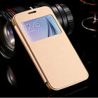 Slim Thin Flip Leather Case Cover for Samsung Galaxy S7 S7 EDGE S6 EDGE+ Plus