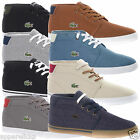 Lacoste Men's Ampthill Mid Top Canvas Lace Up Casual Sports Trainers Shoes