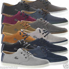 Lacoste Men's SEVRIN LCR SRM Leather Low Top Trainers Shoes Suede - All Sizes