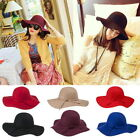 2015 1PC Winter Warm Men Unisex Imitation Woolen Jazz Large Wide-Brimmed Hat