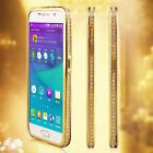 Diamond Crystal Bling Aluminum Bumper Case For Samsung Galaxy S4/5/6 Note 2/3/4