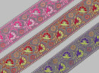 "1 yd Jacquard Trim 2"" wide Woven Border Sew  Ribbon Lace T629"