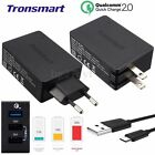 Original Tronsmart Quick Charge QC 2.0 5V/4.8A/42W 3 USB Wall Charger 1.8M Cable