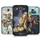 HEAD CASE DESIGNS ARMY PIN-UP CHIC HARD BACK CASE FOR SAMSUNG PHONES 6