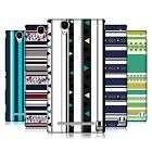 HEAD CASE DESIGNS PRINTED STRIPES HARD BACK CASE FOR SONY PHONES 3