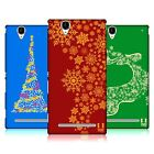 HEAD CASE DESIGNS SNOWFLAKES ART HARD BACK CASE FOR SONY PHONES 3
