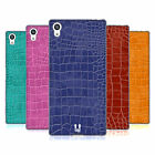 HEAD CASE DESIGNS CROCODILE SKIN PATTERN SOFT GEL CASE FOR SONY PHONES 2