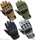 TACTICAL ASSAULT COMBAT PATROL HARD KNUCKLE SHOOTING GLOVES ARMY POLICE AIRSOFT