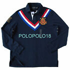 New Polo Ralph Lauren Chevron Rugby Crest Shirt Custom Navy L