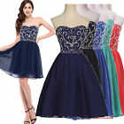 Women's Sweetheart Short Party Prom Formal Bridesmaid Dress evening Ball Gown UK
