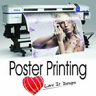 Gloss / Satin Large Colour Posters printing A0 A1 A2 A3. Printed Poster Service