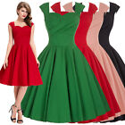 New Womens 50s Vintage Swing Housewife Cocktail Party Prom Dress Gown