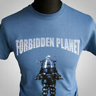 Forbidden Planet Retro Movie T Shirt Robby the Robot Cult Classic Sci Fi Indigo
