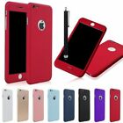 360°Full Hybrid Tempered Glass Acrylic Hard Back Case Cover For iPhone 6&6S Plus