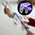 Amazing LED Light Plain Elastic Rocket Helicopter Flying Plane Party Toy Gift