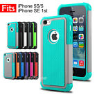 Premium Heavy Duty Silicone Hard Tough Cover Case for Apple iPhone SE 5S 5
