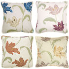 "Kinsale Contemporary Floral Pair Of 18"" Cushion Covers.In Blue,Rose & Terracotta"