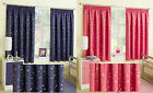 "Stars At Night Thermal Block Out 3"" Tape Top Curtains In Blue Or Pink"