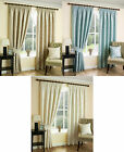 Celford Woven Leaf Jacquard Lined Tape Top Curtains In Coffee, Duck Egg, Ivory