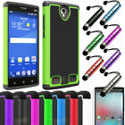 Hybrid Impact Rugged Dual Layer Shockproof Hard Case Cover For ZTE ZMAX 2 Z958