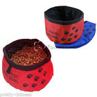 Portable Foldable Dog Pet Cat Water Food Feeder Bowl Travel Dish Waterproof New