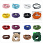 10 Meters 2mm Mixed Color Round Genuine Leather Cord for Necklace Z160903