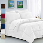 8 Piece: Manhattan Lights Collection Bed in A Bag Comforter Set - King & Queen