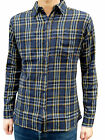 NEW retro vtg 50s indie plaid vtg FLANNEL SHIRT 60s lumberjack Blue Checkered