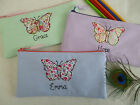 Handmade Personalised Girls Butterfly Pencil Case Wording & Colour Choice Gift