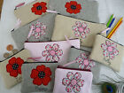 Personalised Flower or Poppy Coin/Card Purse or Pencil Case Choice of wording
