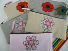 Handmade Personalised Flower or Poppy Pencil Case Choice of wording and design