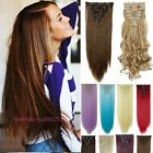 New Hot Clip On Real Hair Extensions Full Head DIY Hair Price Mix Color Pink 5Y2