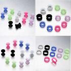 "8 ga-3/4"" Soft Silicone Flesh Tunnels Ear pierce Plugs Expander Stretcher Gauges"