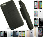 NEW BLACK KICKSTAND HARD CASE COVER + BELT CLIP HOLSTER STAND FOR APPLE iPHONE