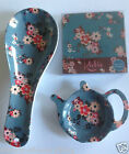 Spoon Rest Coasters or Tea Bag Holder Teabag - Katie Flowers Leonardo Collection