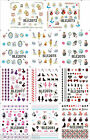 Nail Art Water Decals Stickers Alice in Wonderland UV Tips Decoration