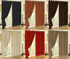 Luxury Faux Suede Ring Top Eyelet Ready Made Lined Curtains For Bedroom / Lounge