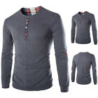 Mens Luxury Long Sleeve Shirt Casual Slim Fit Stylish T-shirt Casual Shirts Tops