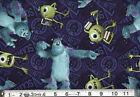 MONSTERS INC Mike & Sully toss : 100% LICENSED cotton fabric by the 1/2 metre