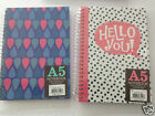 A5 Notebook Book Spiral 150 Sheets Lined Hard Backed Cover Note Book